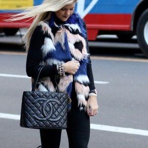 Jackets & Blazers - Multi Print Fur Vest